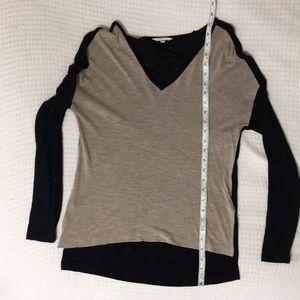 Madewell xs high low long sleeved shirt